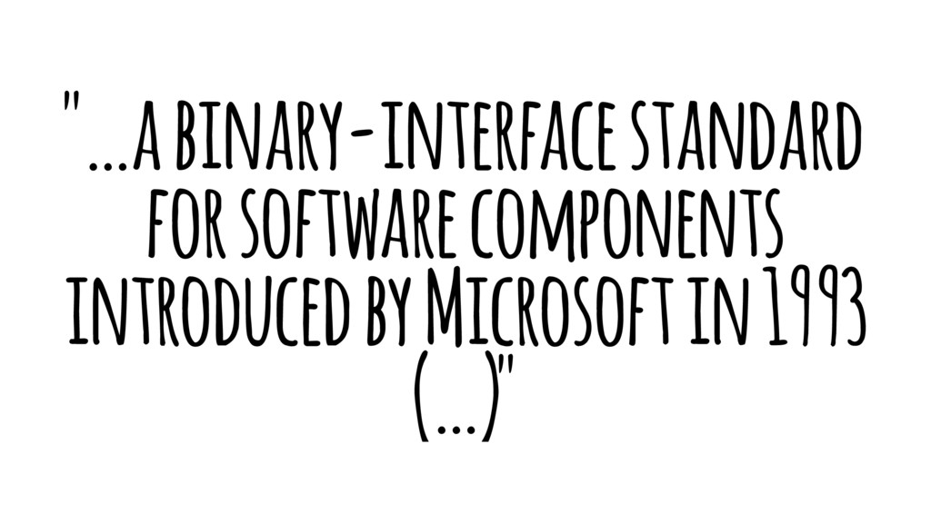 """…a binary-interface standard for software comp..."