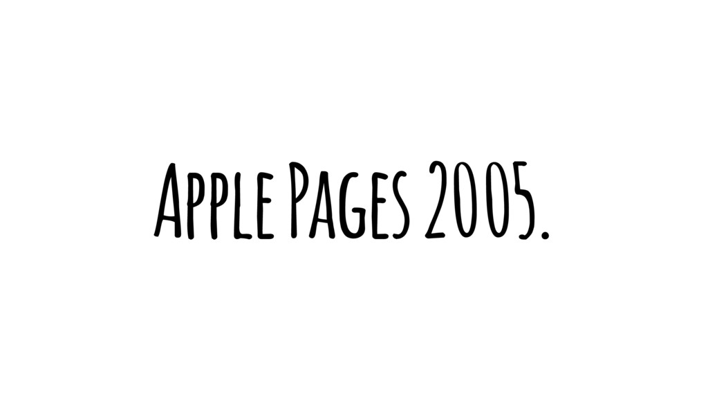 Apple Pages 2005.
