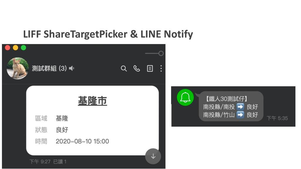 LIFF ShareTargetPicker & LINE Notify