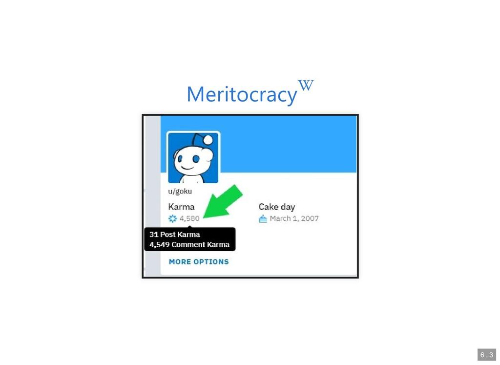 Meritocracy Meritocracy  6 6 . . 3 3