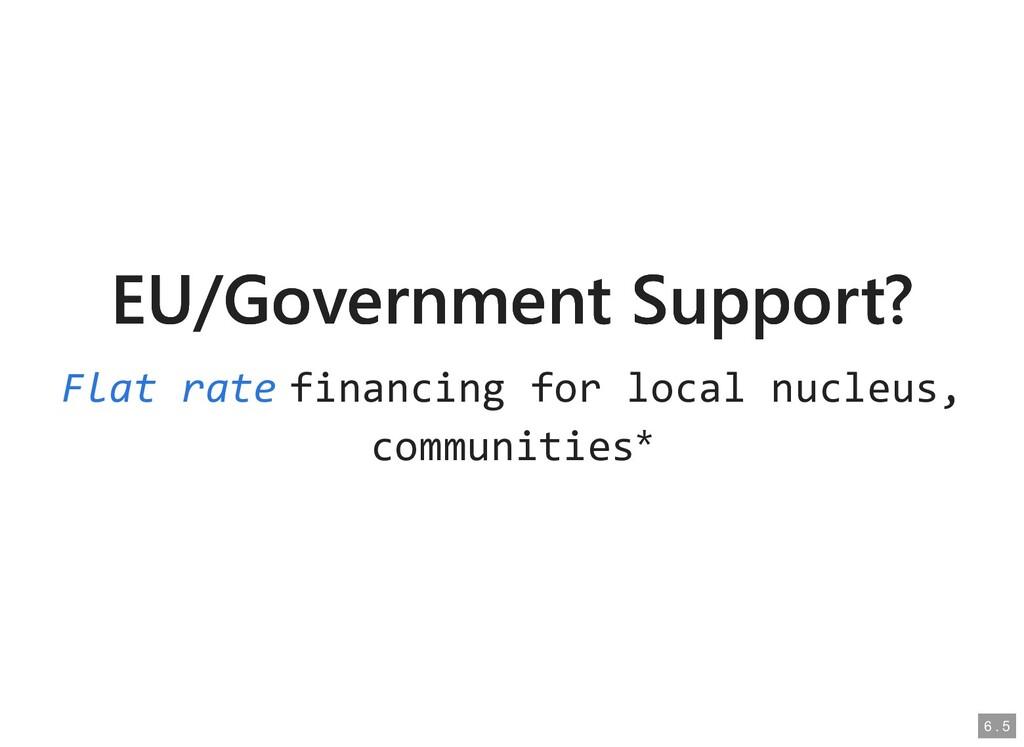 EU/Government Support? EU/Government Support? f...