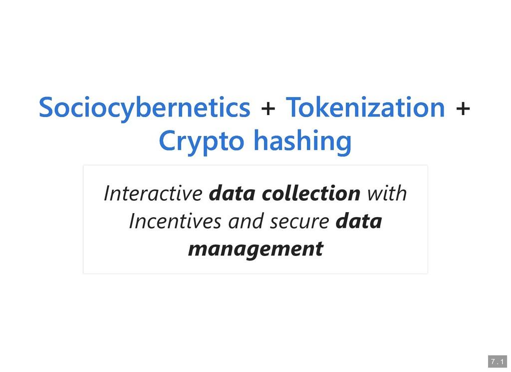 + + + + Sociocybernetics Sociocybernetics Token...