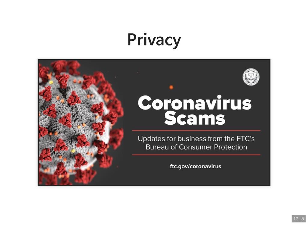 Privacy Privacy 17 17 . . 5 5