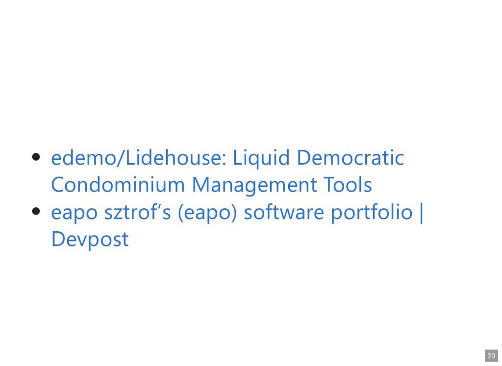 edemo/Lidehouse: Liquid Democratic edemo/Lideho...