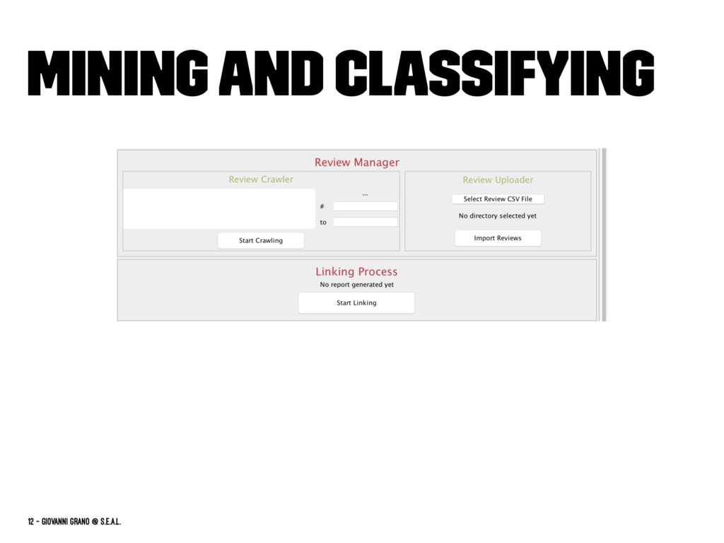 Mining and classifying 12 — Giovanni Grano @ s....
