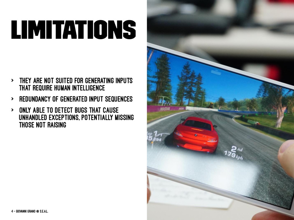 Limitations > They are not suited for generatin...