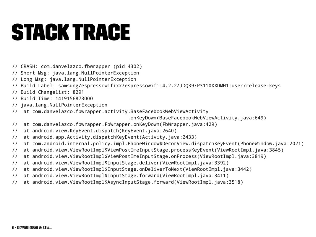 Stack Trace // CRASH: com.danvelazco.fbwrapper ...
