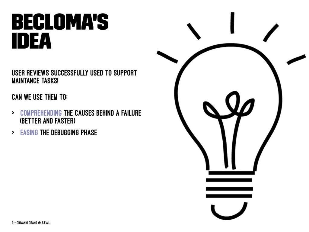 BECLoMA's idea User reviews successfully used t...