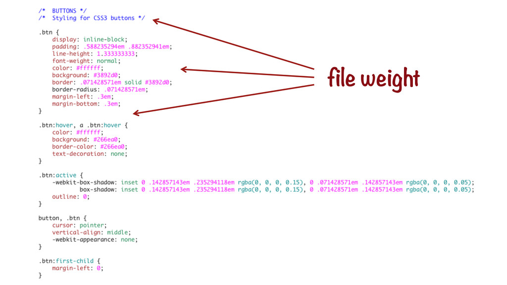 file weight