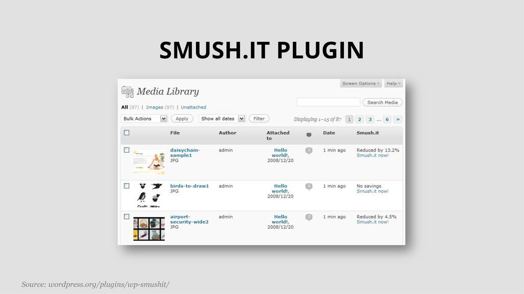 Source: wordpress.org/plugins/wp-smushit/ SMUSH...