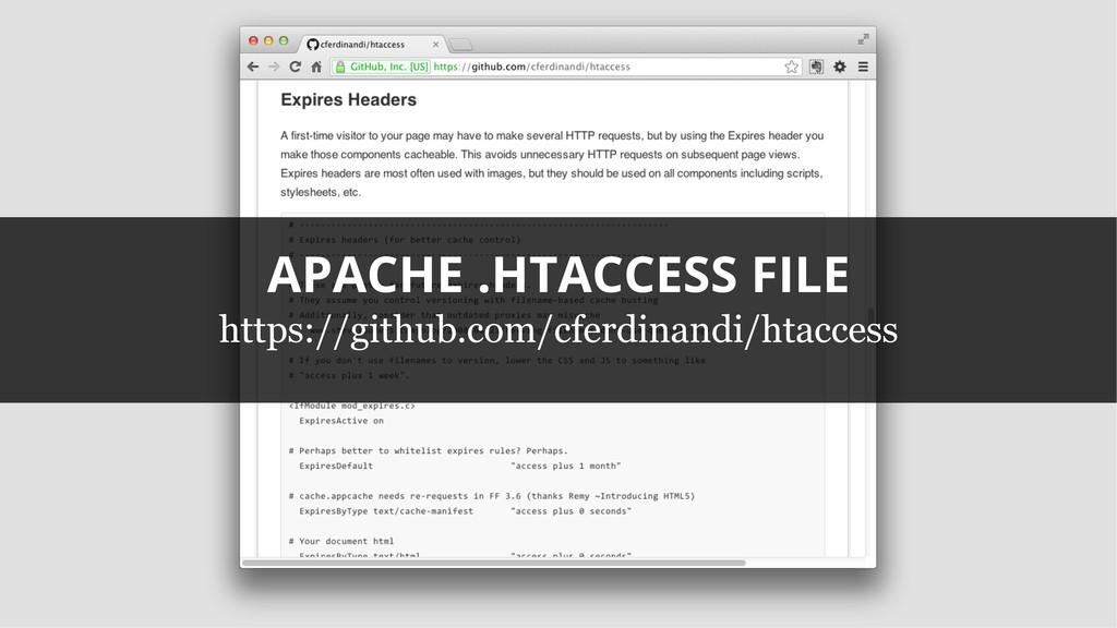 APACHE .HTACCESS FILE https://github.com/cferdi...