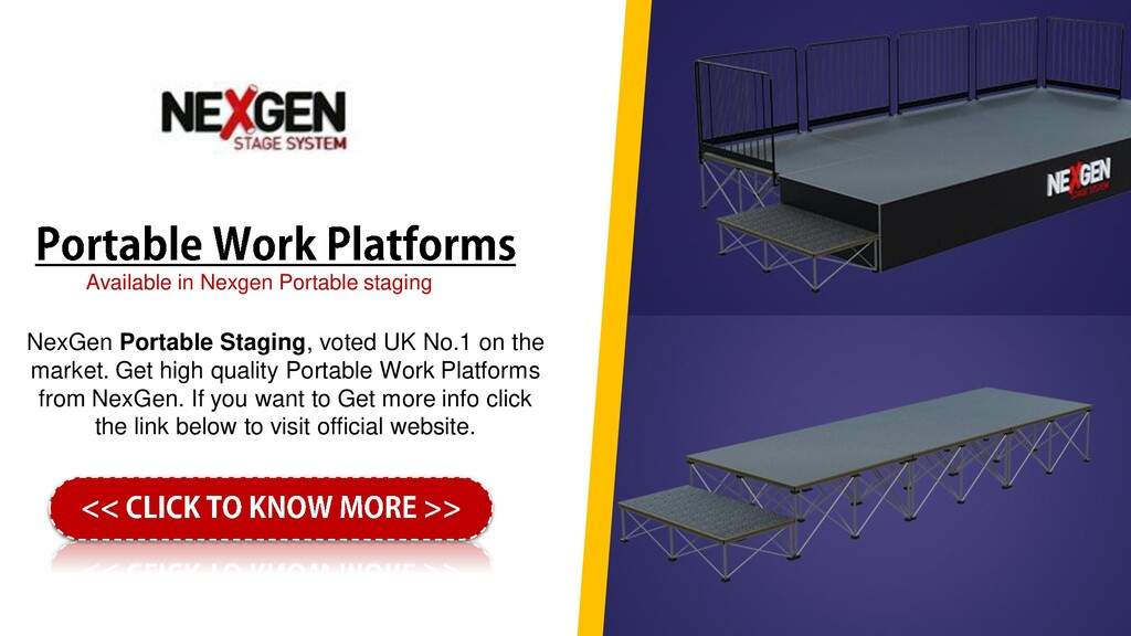 NexGen Portable Staging, voted UK No.1 on the m...