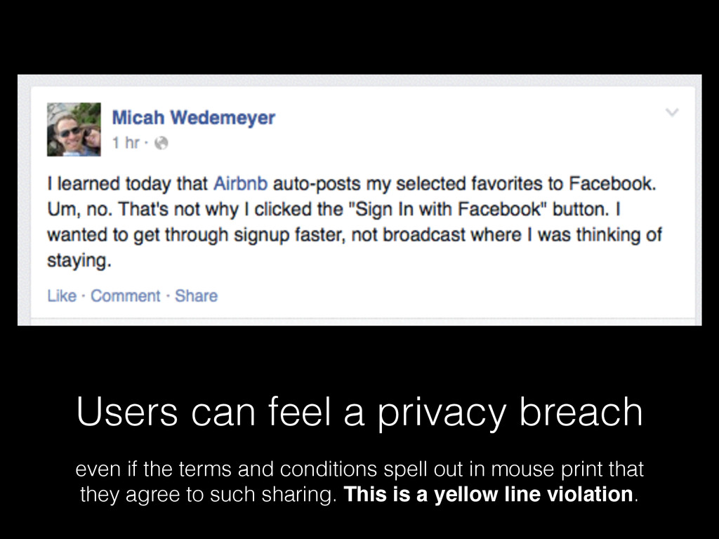 Users can feel a privacy breach even if the ter...