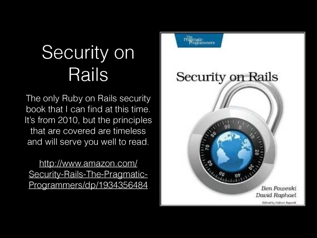 Security on Rails The only Ruby on Rails securi...
