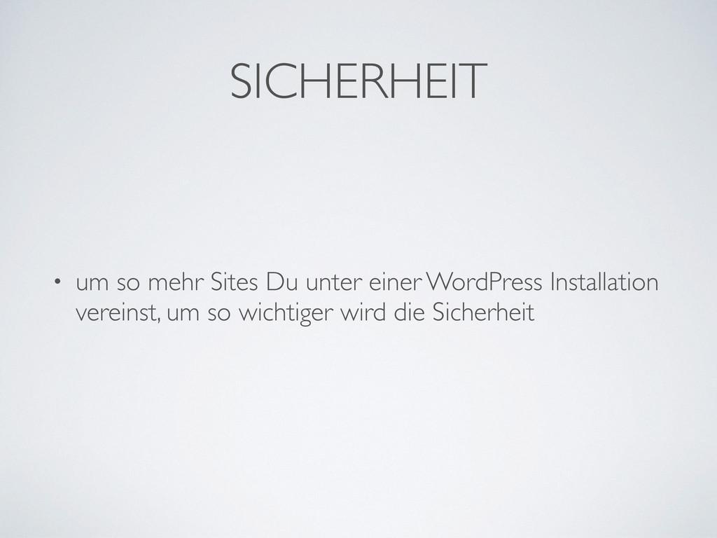 SICHERHEIT • um so mehr Sites Du unter einer Wo...
