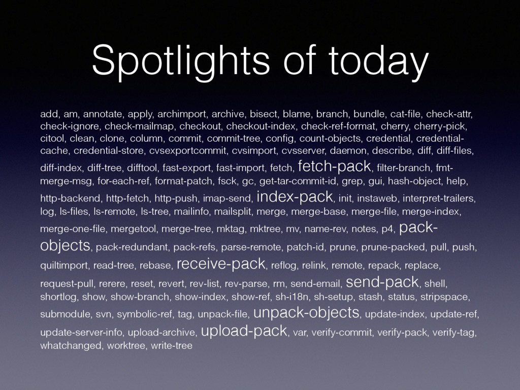 Spotlights of today add, am, annotate, apply, a...