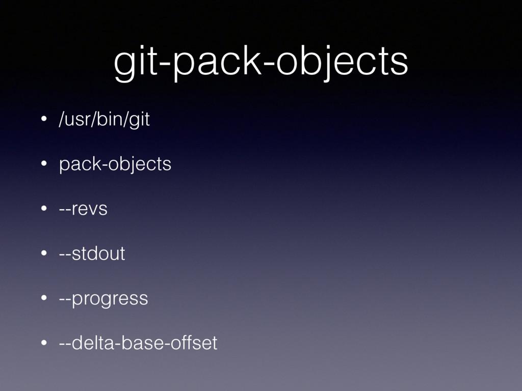 git-pack-objects • /usr/bin/git • pack-objects ...