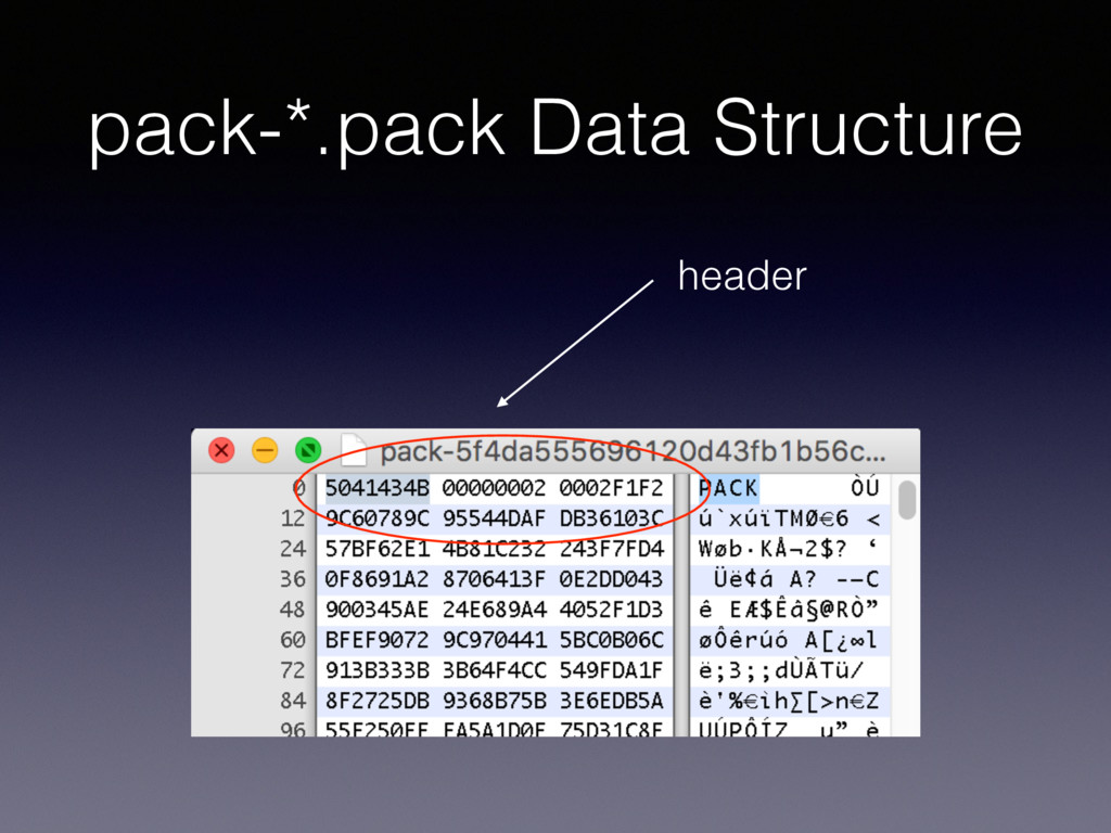 pack-*.pack Data Structure header