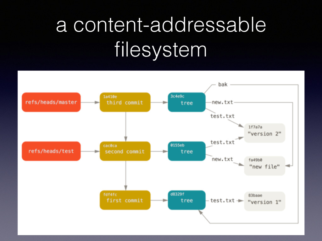 a content-addressable filesystem