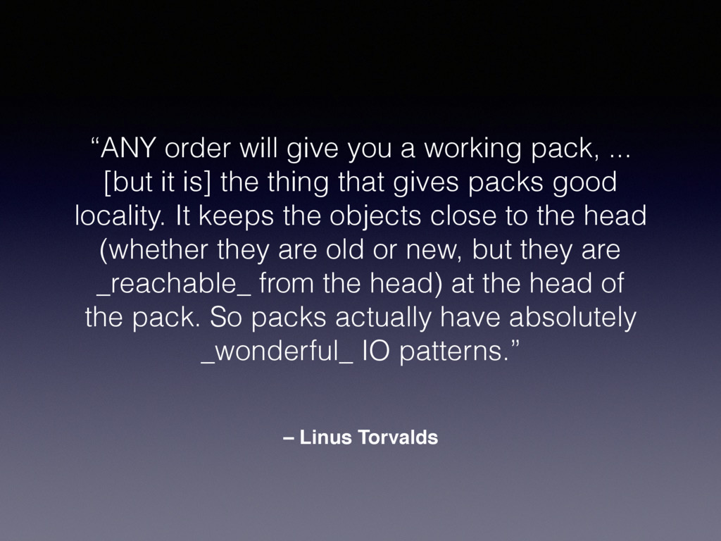"– Linus Torvalds ""ANY order will give you a wor..."