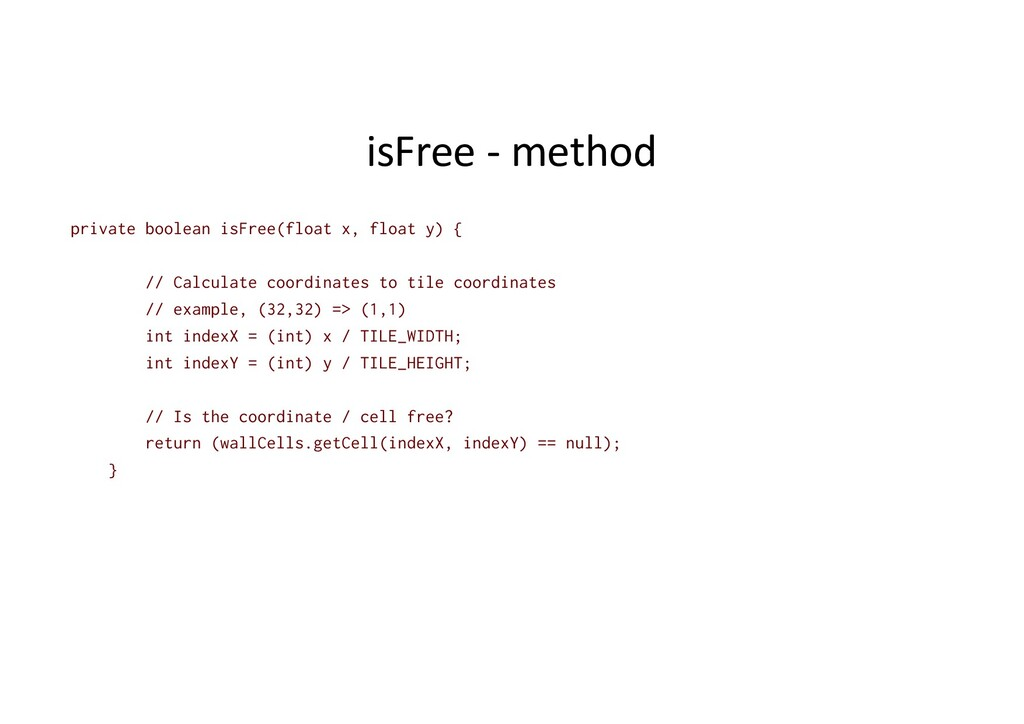 isFree - method private boolean isFree(float x,...