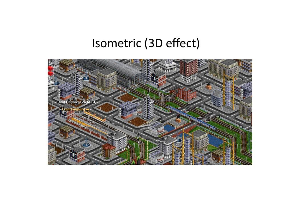 Isometric (3D effect)