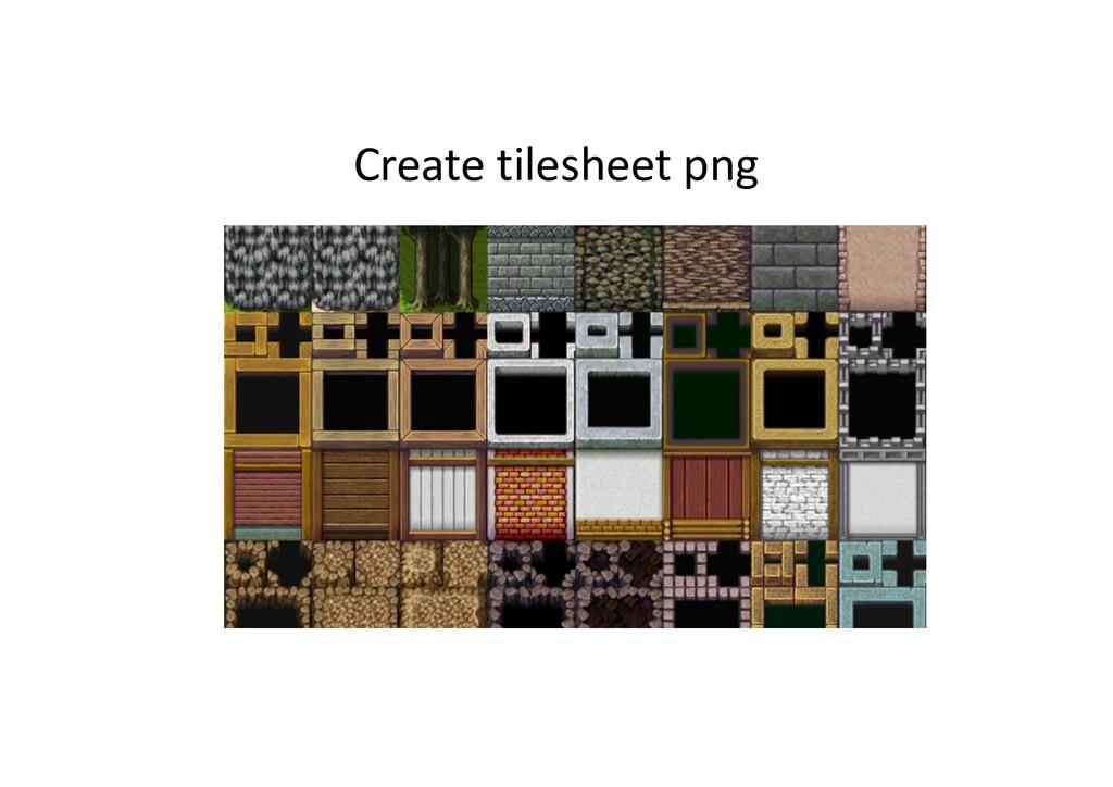 Create tilesheet png
