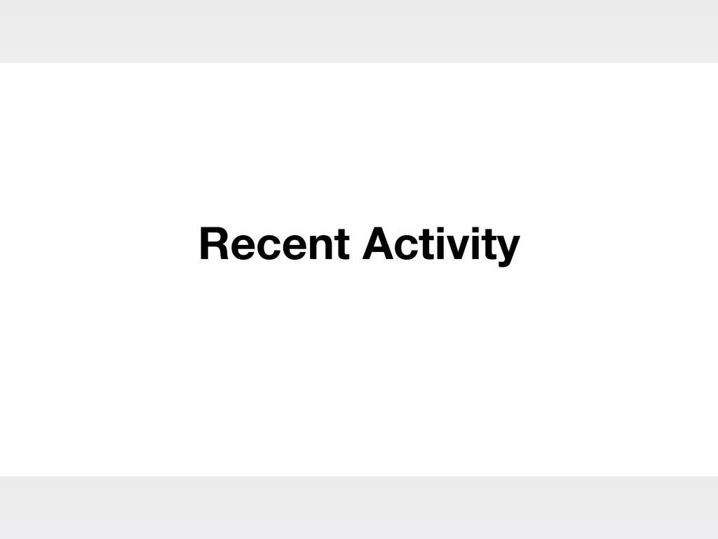 Recent Activity