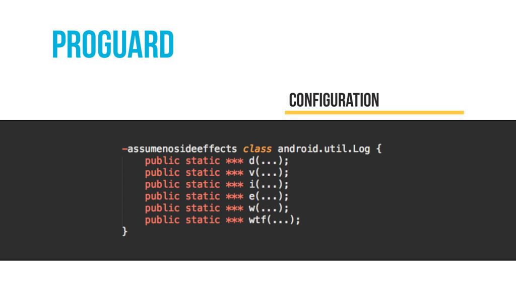 proguard configuration