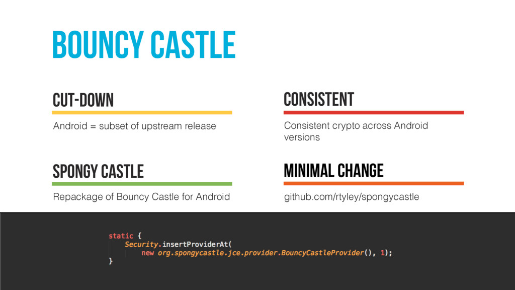 bouncy castle Android = subset of upstream rele...