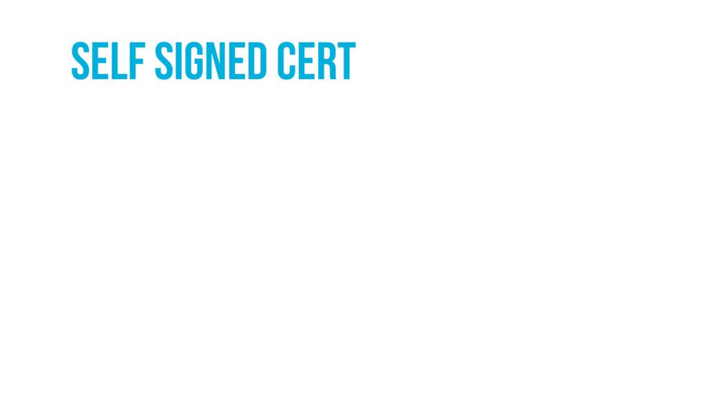 self signed cert