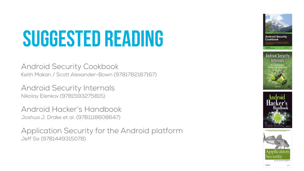 suggested reading Android Security Cookbook Ke...