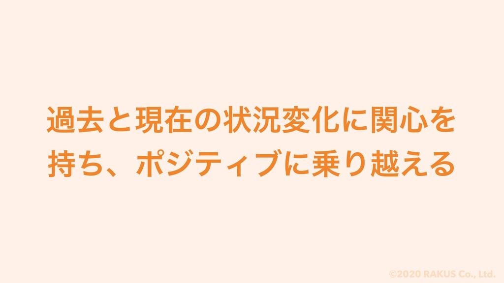 ©2020 RAKUS Co., Ltd. աڈͱݱࡏͷঢ়گมԽʹؔ৺Λ ͪɺϙδςΟϒʹ...