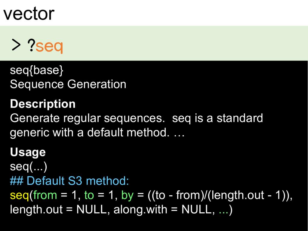 vector seq{base} Sequence Generation Des...