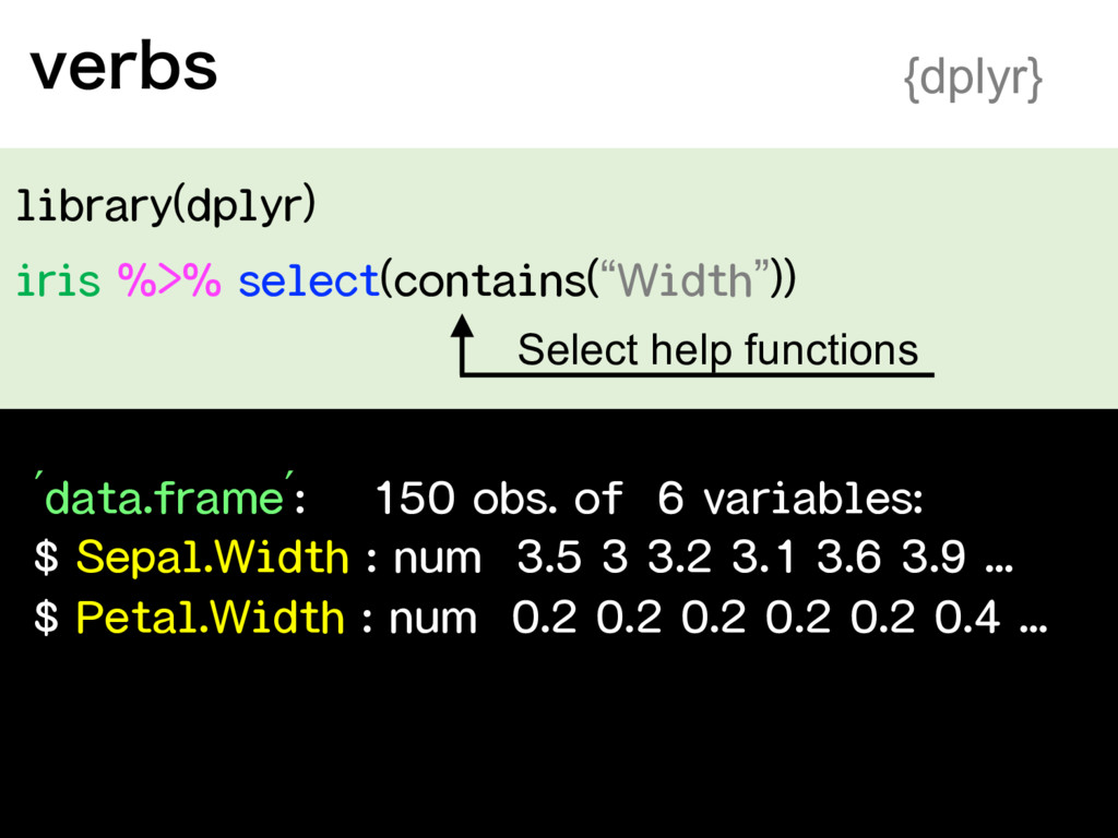 """"""" """" % $ $ WFSCT {dplyr} Select help functions"""