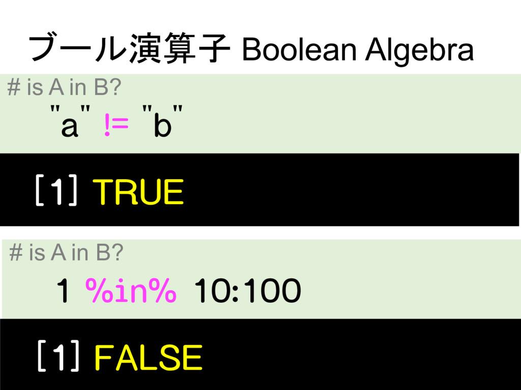 # is A in B?  Boolean Algebra...