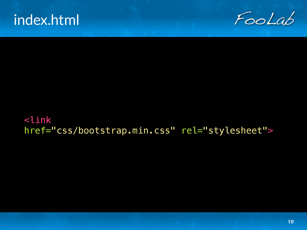 """index.html <link href=""""css/bootstrap.min.css"""" r..."""