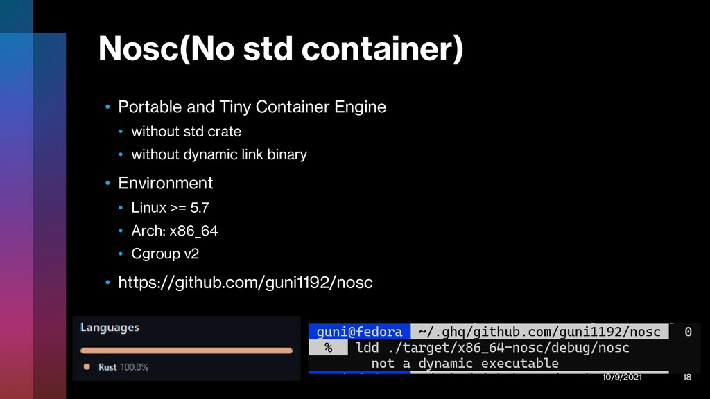 Nosc(No std container) • Portable and Tiny Cont...