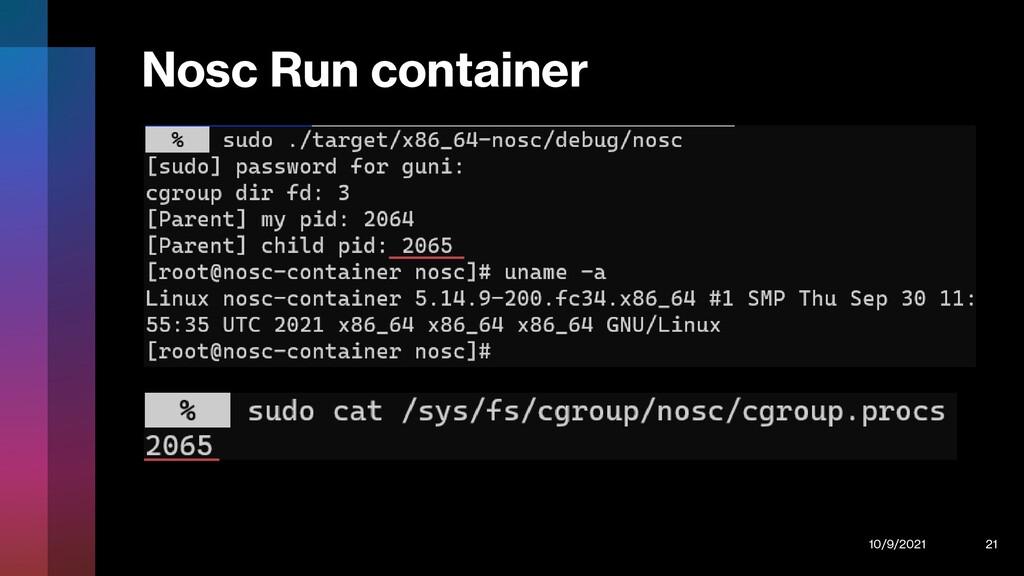 Nosc Run container 10/9/2021 21