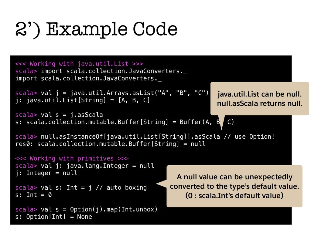2') Example Code <<< Working with java.util.Lis...