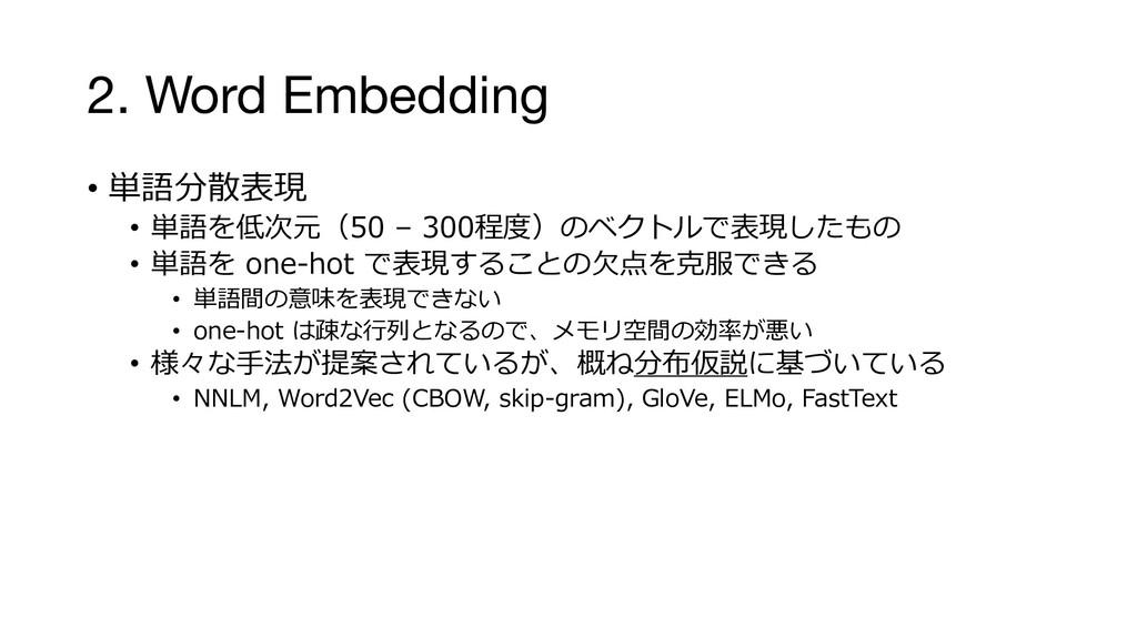 2. Word Embedding • x km • x s G d kmN • x B km...