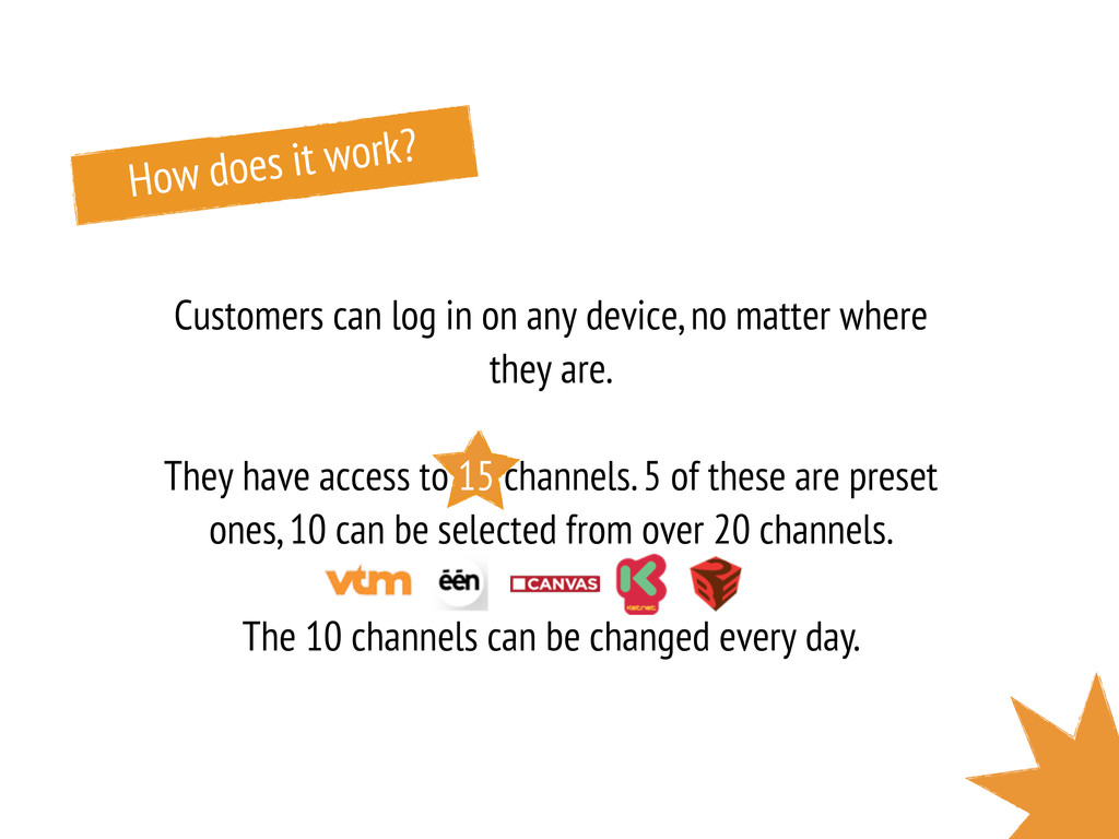 How does it work? Customers can log in on any d...