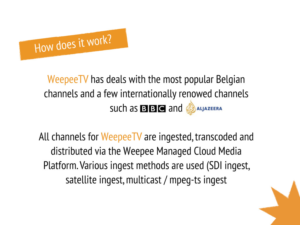 How does it work? WeepeeTV has deals with the m...