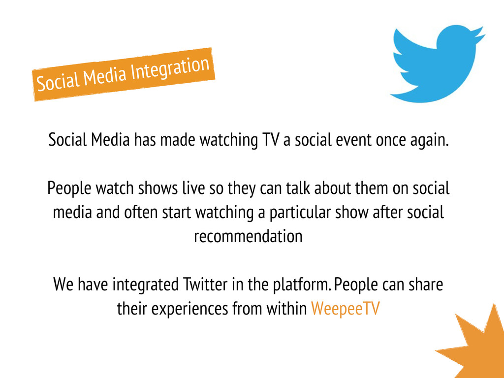 Social Media Integration Social Media has made ...