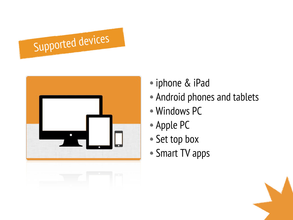 Supported devices iphone & iPad Android phones ...