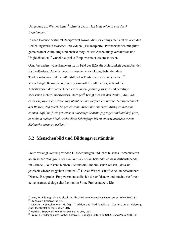 """Umgebung ab. Werner Lenz35 schreibt dazu: """"Ich ..."""