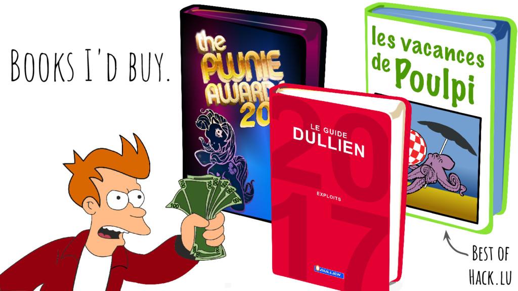 Books I'd buy. Best of Hack.lu