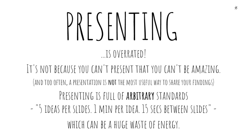 ...is overrated! It's not because you can't pre...