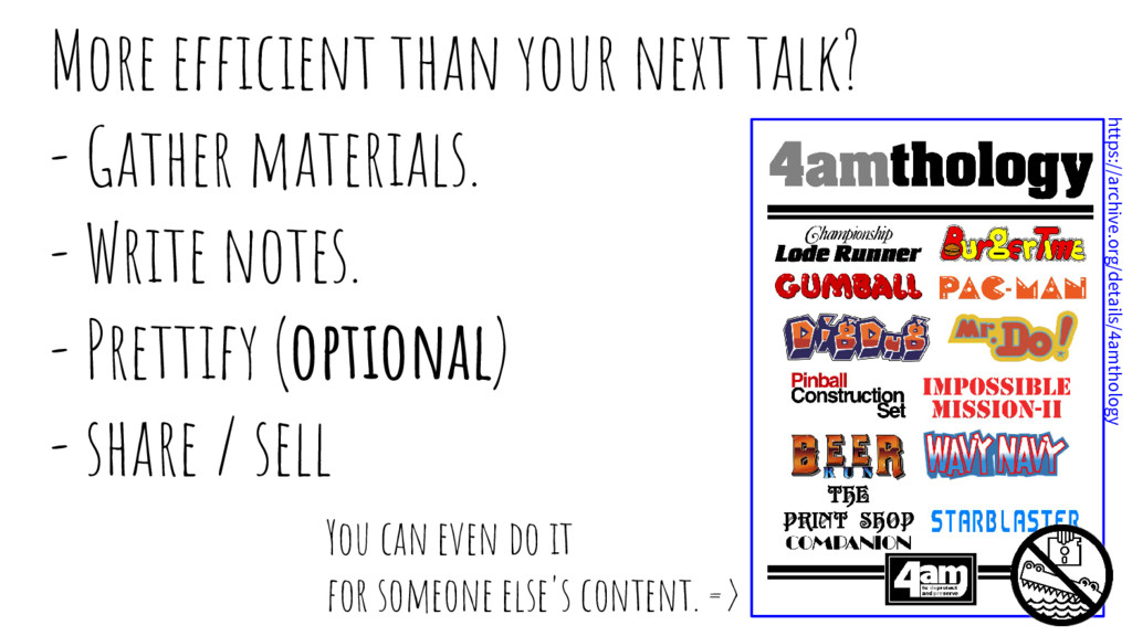 More efficient than your next talk? - Gather ma...