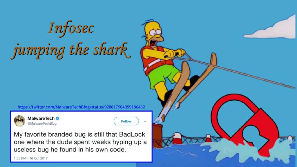 Infosec jumping the shark Infosec jumping the s...